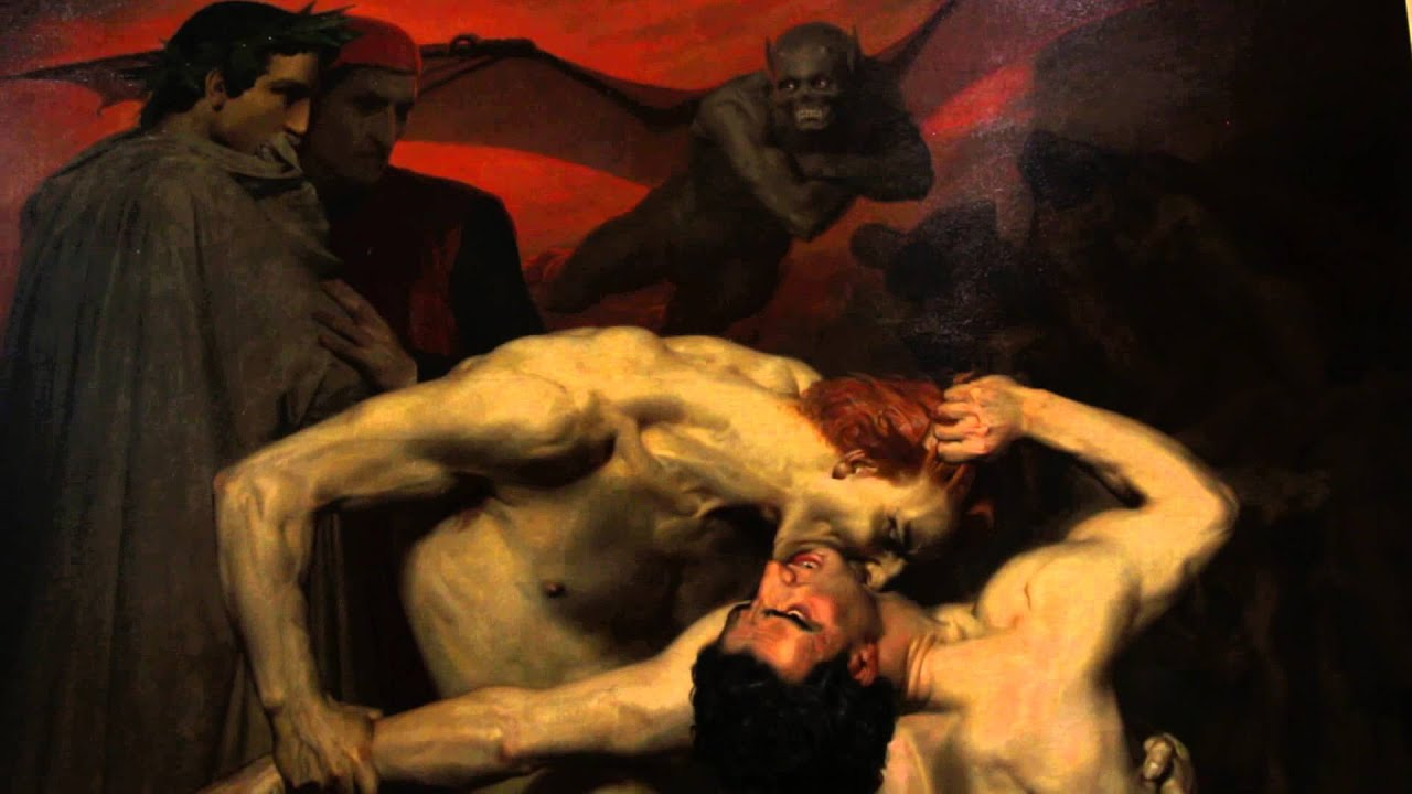 Apologise, but, Dante and virgil in hell words