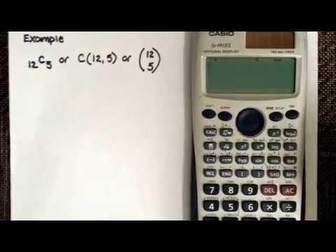 Combination using the calculator Casio fx-991ES - YouTube