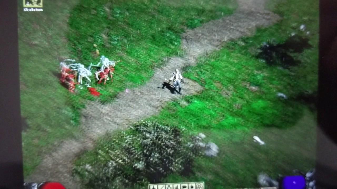 GPD Win - Diablo II (with Glide3-to-OpenGL Wrapper) - YouTube