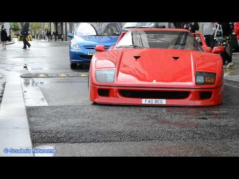 Ferrari F40 & A Pulse GT1 Vs Speed Bump - FULL HD 1080P