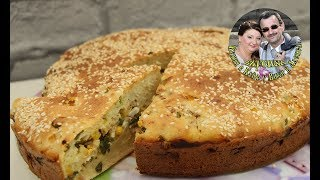 Как приготовить Заливной пирог с тунцом  Вкусно сытно и быстро  Простой рецепт