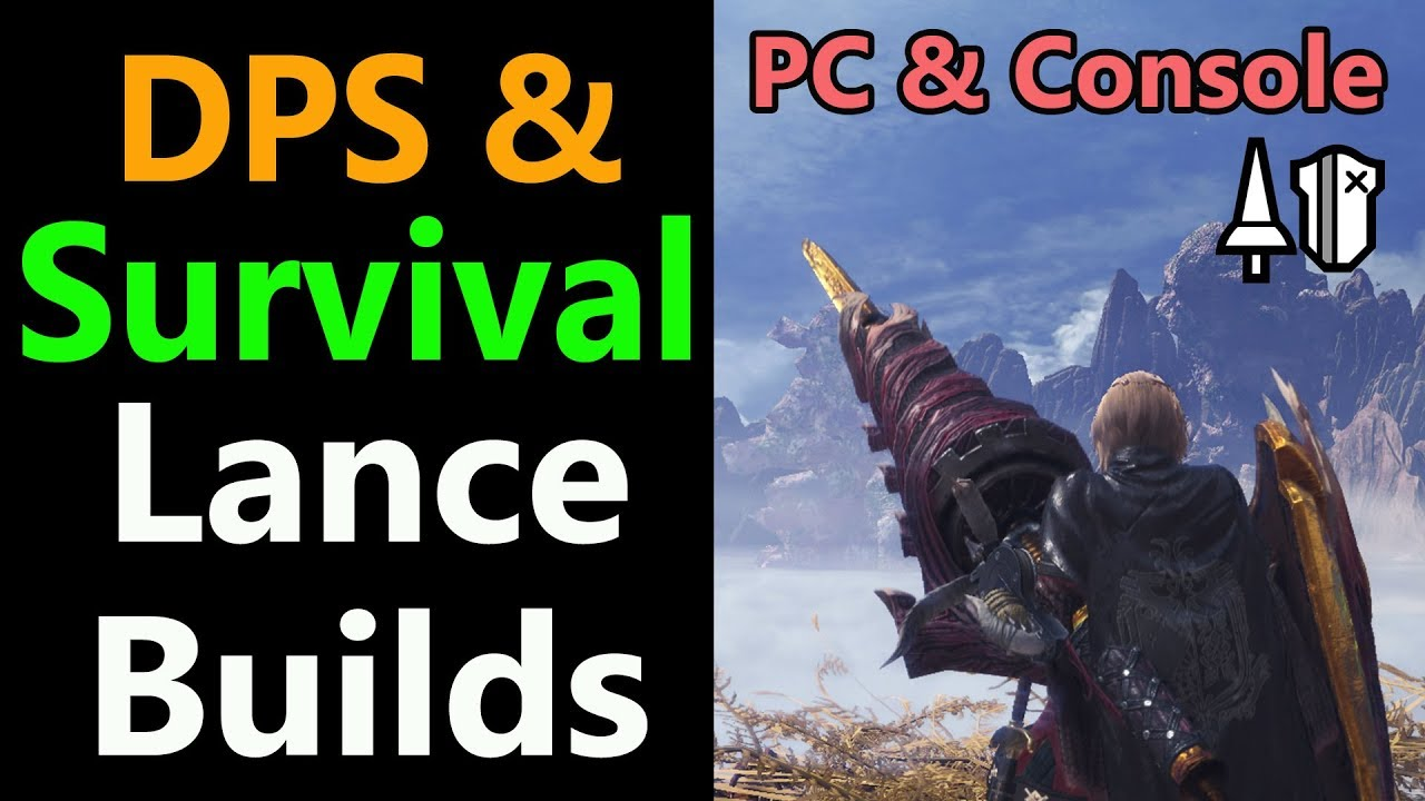 MHW: Lance DPS & Survival Builds | 100% Affinity Master's touch | Super  Recovery | Mixed Sets