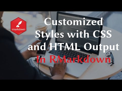 RMarkdown Customized Styles With CSS And HTML Output