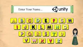 Ep 16. UI keyboard - GUI unity 5 keyboard
