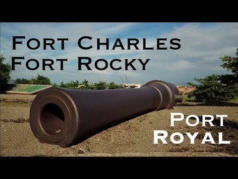 Drone footage of Fort Charles and Fort Rocky, Port Royal, Jamaica