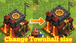 Clash Of clans glitch 2017 change the size of Townhall,coc glitch 2017 ,coc glitch Townhall glitch
