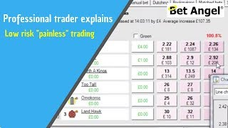 Betfair Trading, Peter Webb, professional trader explains how to do low risk