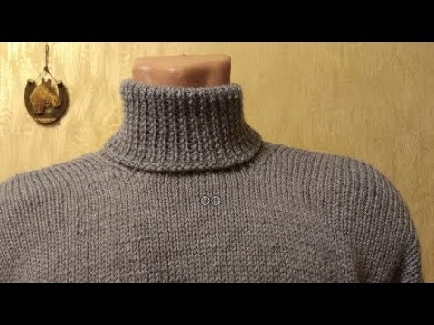 Легкий свитер мужской спицами