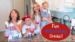Fun Layered 4th Of July Drinks!!