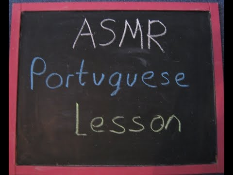 ASMR ~ Portuguese Lesson Teacher Roleplay (with Chalk and Blackboard)
