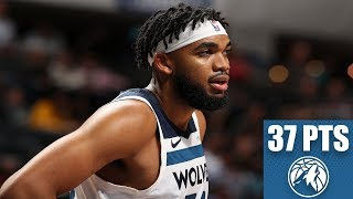 Karl-anthony towns posts 37 points on 13-of-18 shooting, adding 15 rebounds and 8 assists in the timberwolves' 121-99 win over hornets.✔ subscribe to esp...