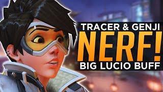 Overwatch: Tracer, Genji & Junkrat NERFED! - HUGE Lucio BUFF!
