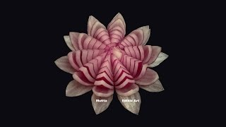 Red Onion Lotus Flower - Beginners Lesson 11 By Mutita The Art Of Fruit And Vegetable Carving Video