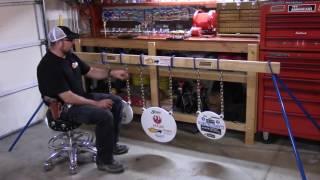 bluesteeltargets com video 5 bluesteeltargets com target hanging system