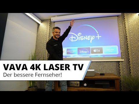VAVA 4K Laser TV - Großes helles 100 Zoll+ Bild mit Super Kontrast im Wohnzimmer