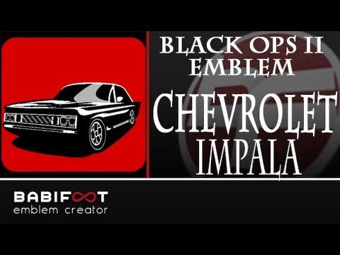 COD Black Ops 2 Emblem Tutorial Chevrolet Impala 1969