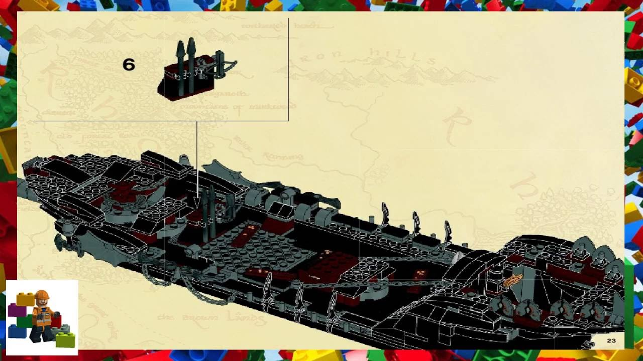 Lego Instructions The Lord Of The Rings 79008 Pirate Ship