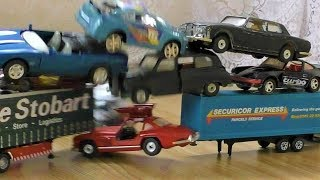 CRASH INTO THE TOWER OF TOY CARS SLOW MOTION RECORD