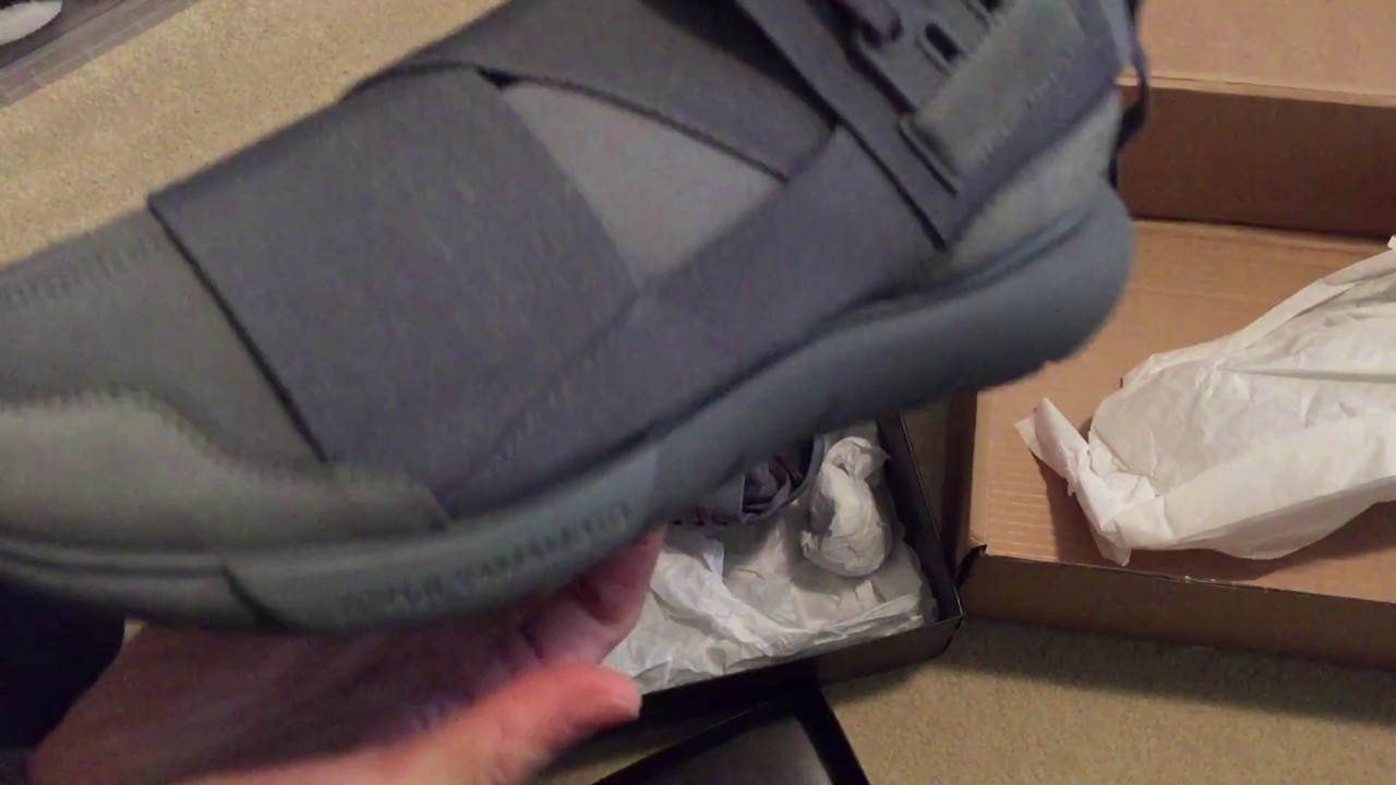 f353370f81de3 Y-3 QASA HIGH VISTA GREY SNEAKER UNBOXING - YouTube