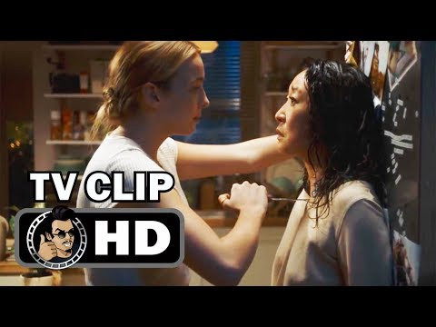 """KILLING EVE Official Clip """"The Face-Off"""" (HD) Jodie Comer, Sandra Oh Thriller Series"""