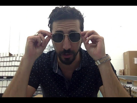 214e4d680fd Ray-Ban Hexagonal RB3548N Flat Lens Sunglasses Review - YouTube