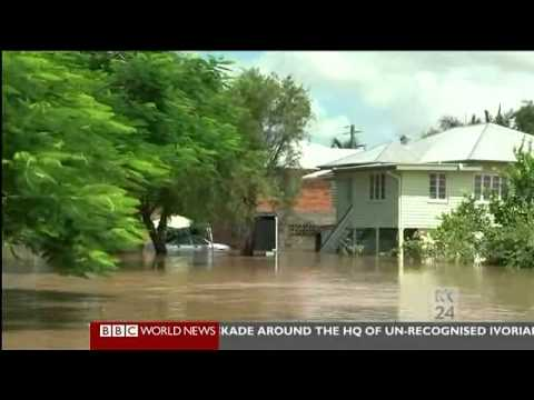 BBC World News: Rockhampton Floods Coverage (6.1.2011)