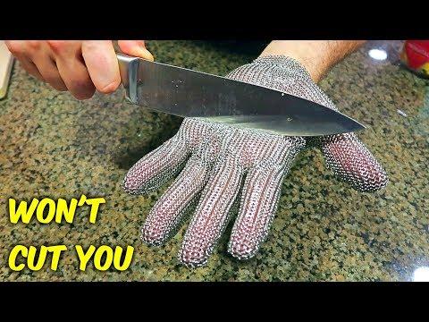 4 Weird Gloves Kitchen Gadgets Test!