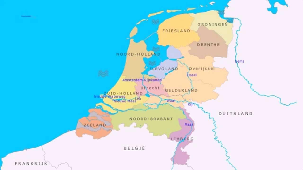 Topografie Grote Rivieren En Wateren Van Nederland Youtube