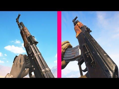 Modern Warfare 2019 Vs Call Of Duty 4 Weapons Comparison
