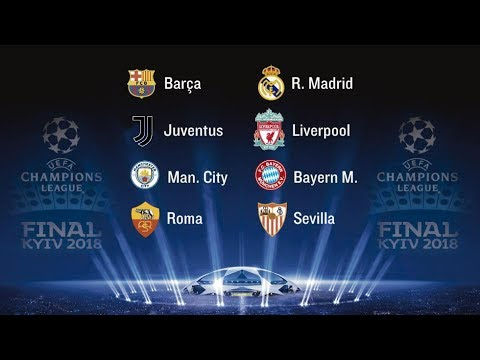 SORTEO CUARTOS DE FINAL CHAMPIONS LEAGUE EN DIRECTO - YouTube