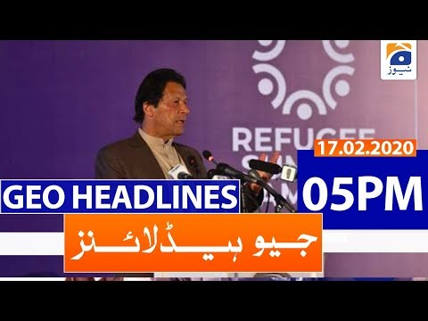 Geo Headlines 05 PM | 17th February 2020