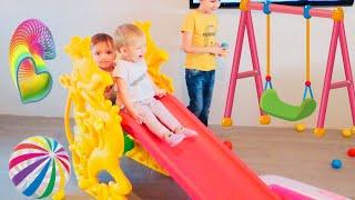 Развлечения для детей! Игровая комната в квартире  Видео для детей!
