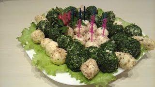 Легкая и быстрая закуска к новогоднему столу -- сырные шарики с черри и виноградом внутри!