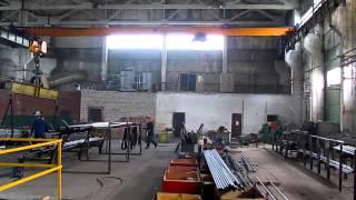 Kran mostovoy 5 t www.krankomplekt.com(Кран мостовой однобалочный опорный грузоподъемностью 5т, пролетом 22,5 метра, с дистанционным радиоуправлен..., 2015-01-14T12:40:05.000Z)