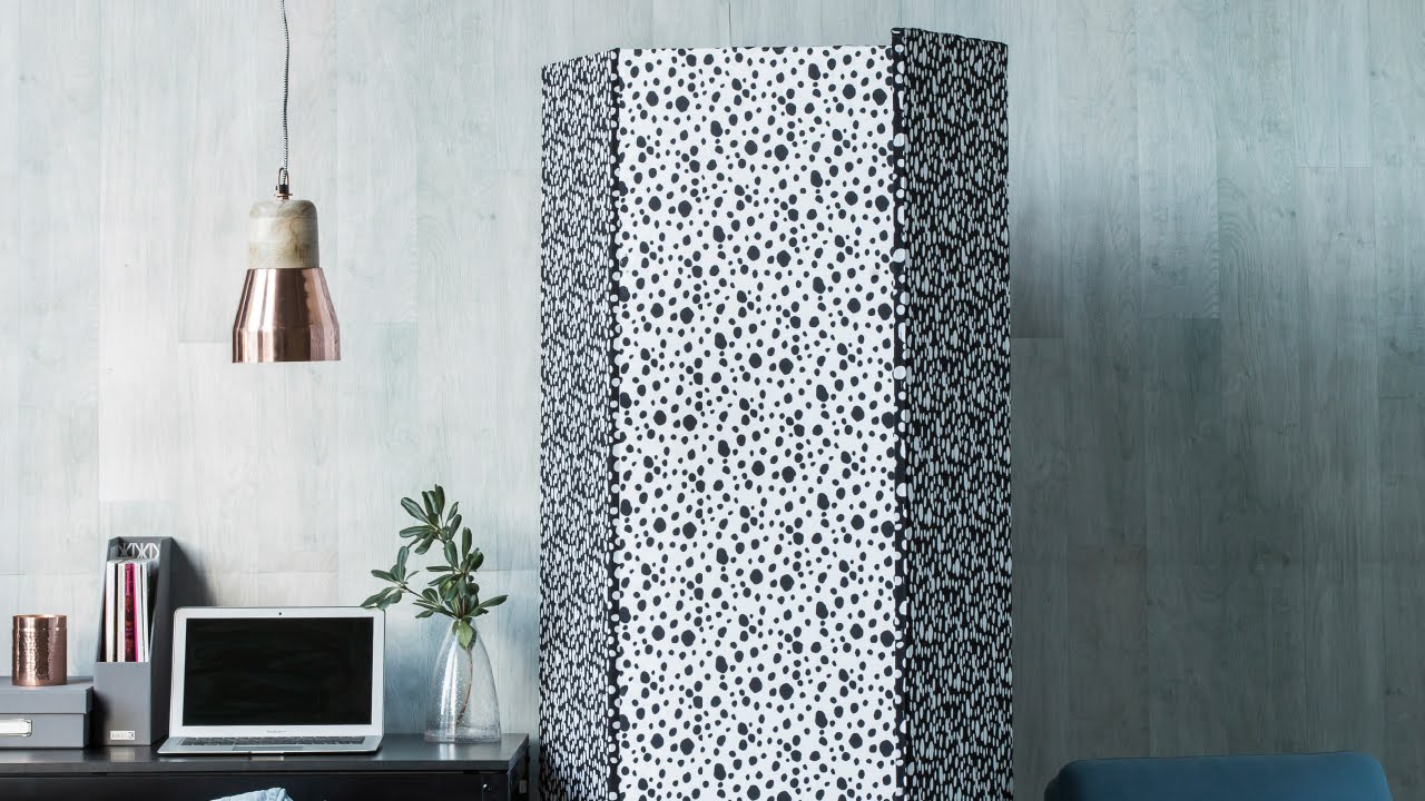 Diy Project Fabric Covered Room Divider Homes Youtube