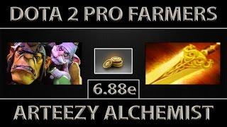 arteezy alchemist fast farm ez 10 minutes radiance dota 2 6 88e