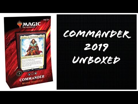 Unboxed - Magic the Gathering Commander 2019 Mystic Intellect box opening