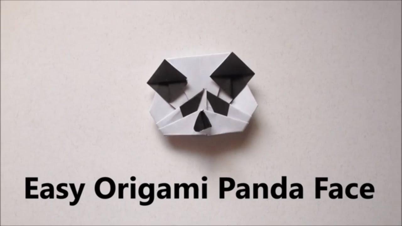 Easy Origami Panda Face Head