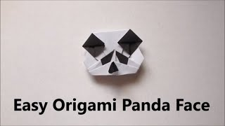 Easy Origami Panda Face/Head - Easy Origami for Beginners - Easy Origami Animals - Cute Panda Face