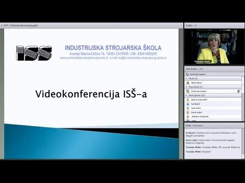 Videokonferencija Industrijske strojarske škole, Zagreb
