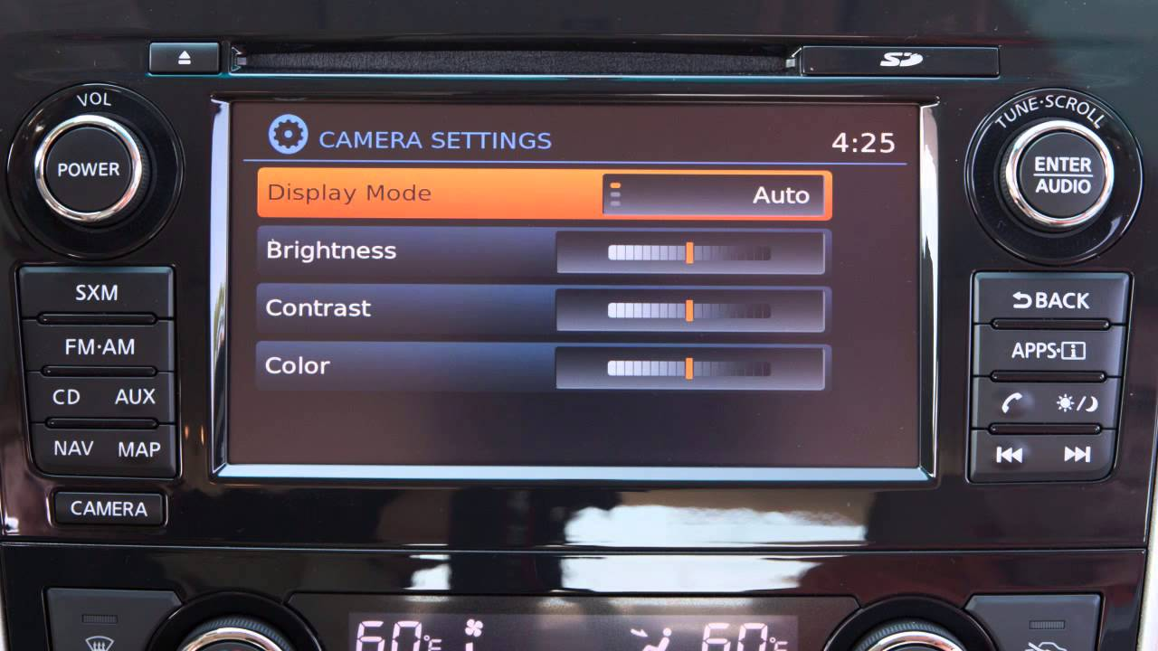 2015 Nissan Altima Rearview Monitor With Moving Object