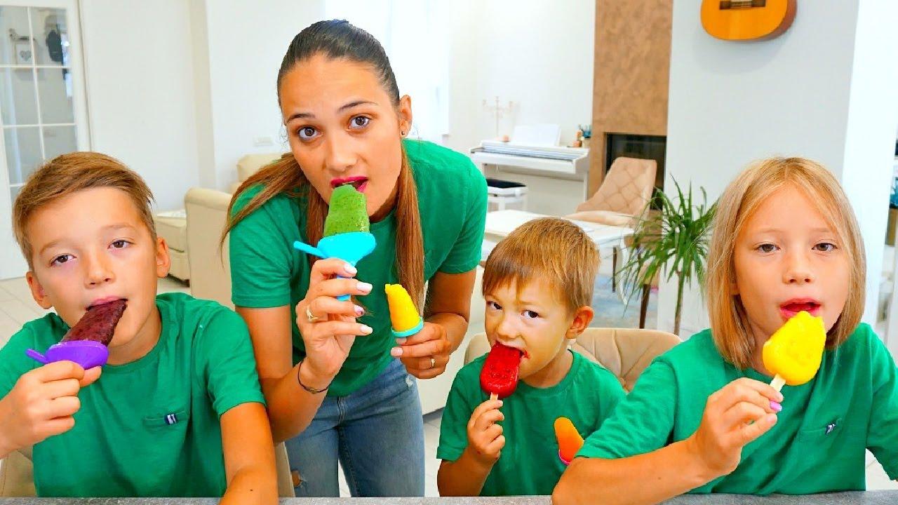 Jason & Kids Pretend Play Ice Cream Market Color Song Nursery Rhymes Kids Songs