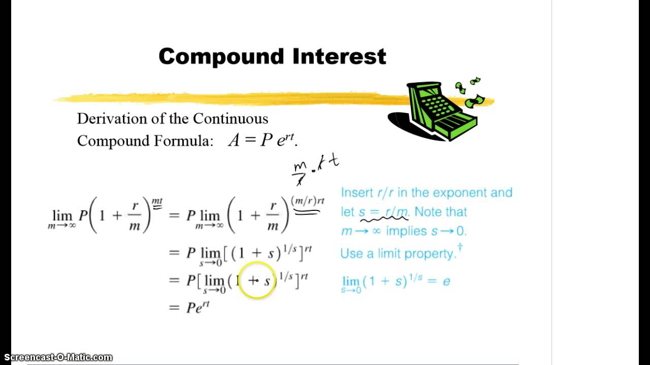 11.1 - Continuous Compound Interest - YouTube