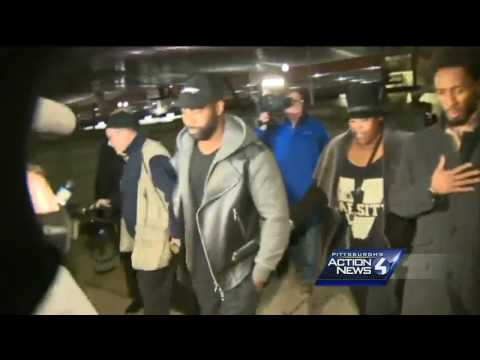 Raw video: Darrelle Revis surrenders to face charges in Pittsburgh