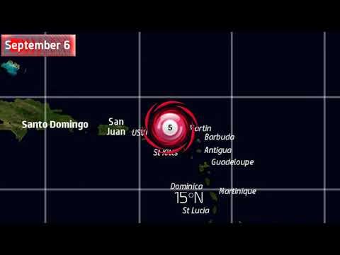 The track of Hurricane Irma
