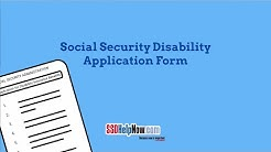 Social Security Disability Application Form: SSA-16