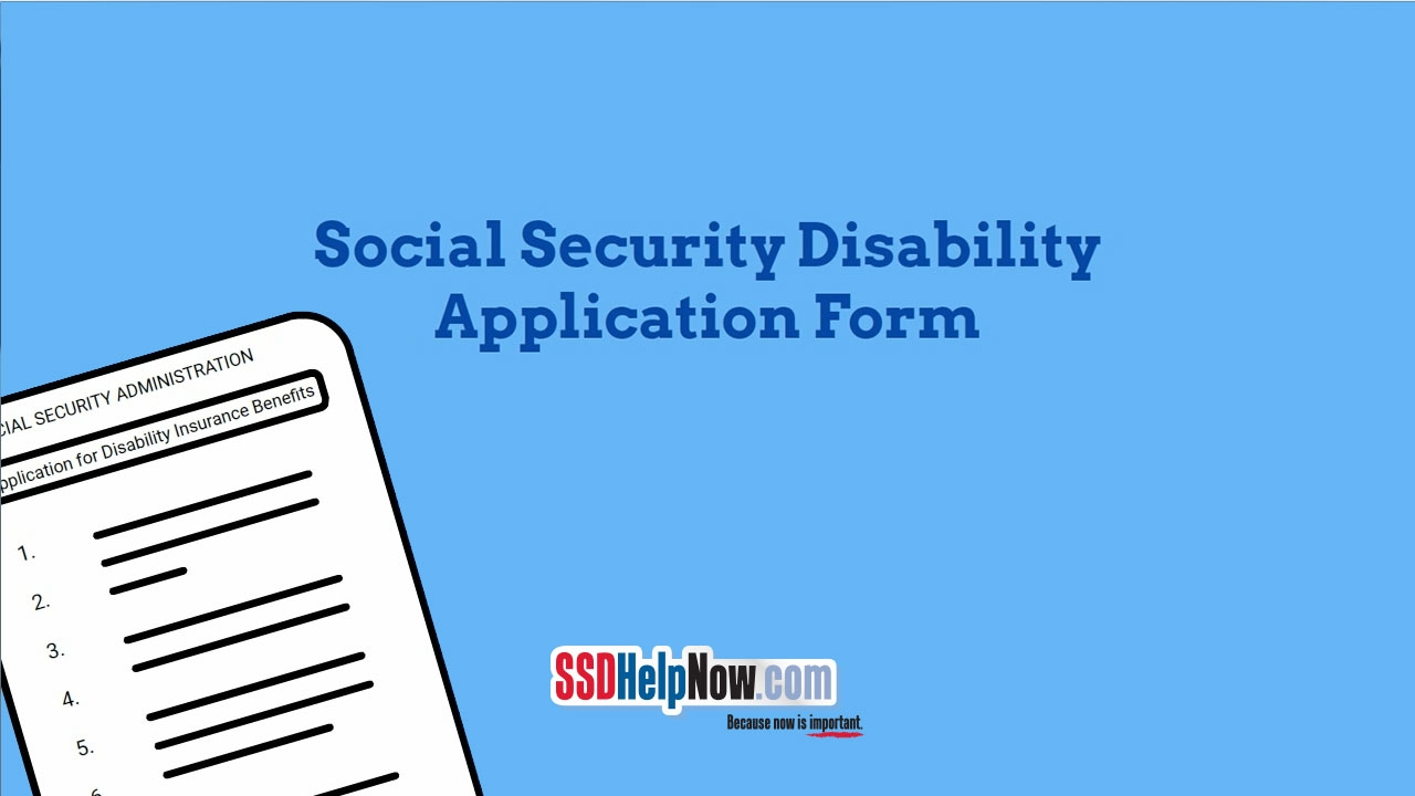 Social Security Disability Application Form: SSA 16