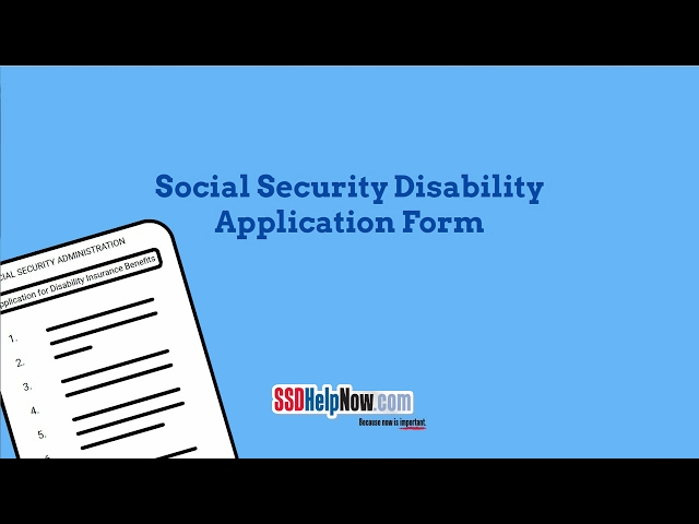 Ssa Social Security Disability Application Form  SsdhelpnowCom