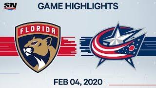 NHL Highlights   Panthers vs Blue Jackets – Feb. 4, 2020