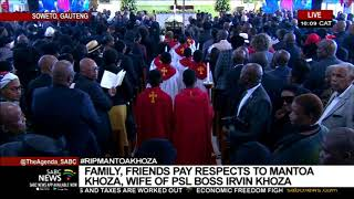 Family, friends pay last respects to the late Mme Yvonne Mantoa Khotleng-Khoza
